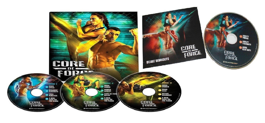 Core De Force MMA Style Workout Program Deluxe Kit Complete Fitness 4 DVD Set - Aydenns