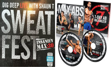 Load image into Gallery viewer, Insanity Max: 30 Max Abs 15 Minute AB Series & Sweat Fest Bonus Workout 2 DVD Program - Aydenns