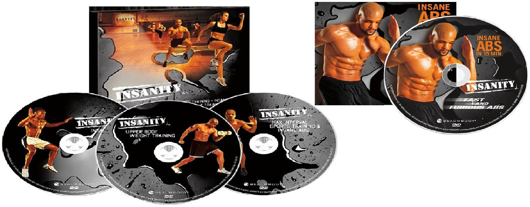 Insanity 60 Day Fast and Furious Bonus Workouts 4 DVD Program - Aydenns