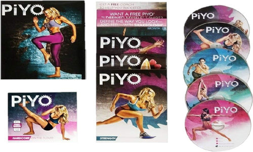 Piyo Fitness Workout The Complete Deluxe Kit 5 DVD's - Aydenns
