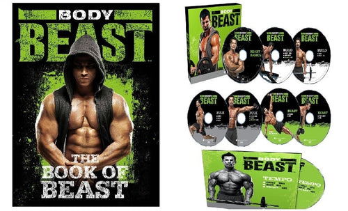 Body Beast Workout Program Deluxe Kit Complete Fitness 8 DVD Set - Aydenns