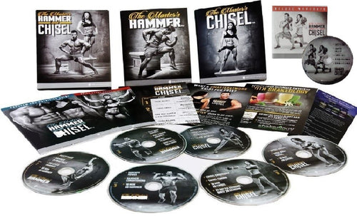 The Masters Hammer and Chisel Workout Program Deluxe Kit Complete Fitness 7 DVD Set - Aydenns