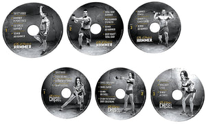 The Masters Hammer and Chisel Workout Program Base Kit Complete Fitness 6 DVD Set - Aydenns