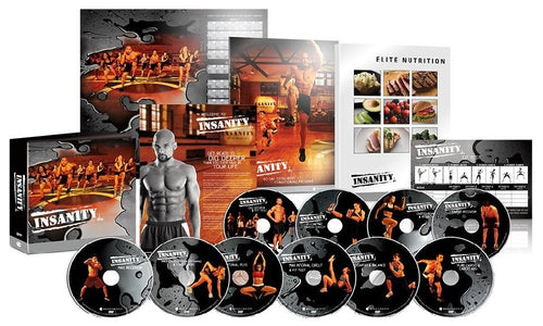 Insanity 60 Day Workout Program Deluxe Kit Complete Fitness 13 DVD Set - Aydenns