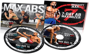 Insanity Max: 30 Max Abs 15 Minute AB Series & Sweat Fest Bonus Workout 2 DVD Program - Aydenns