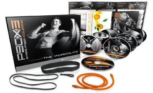 P90X3 Workout Program Deluxe Kit Complete Fitness 10 DVD Set & Band - Aydenns