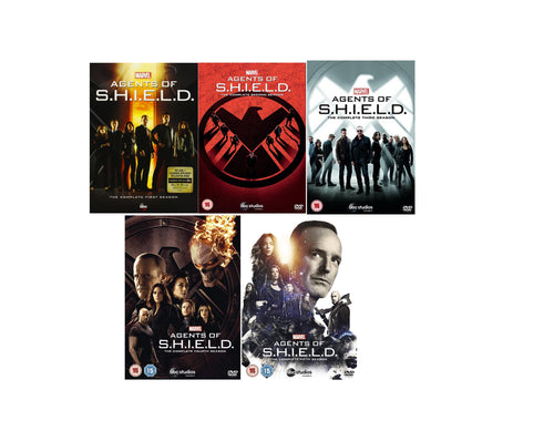 Marvel Agents of SHIELD S.H.I.E.L.D. Seasons 1-5 DVD NEW - Aydenns