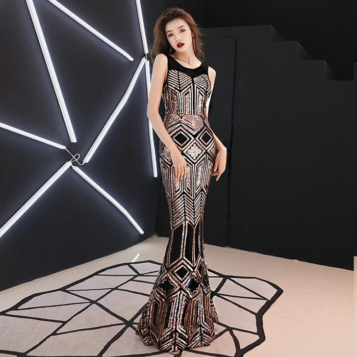 Thin slim banquet elegant annual meeting / dinner / party dress