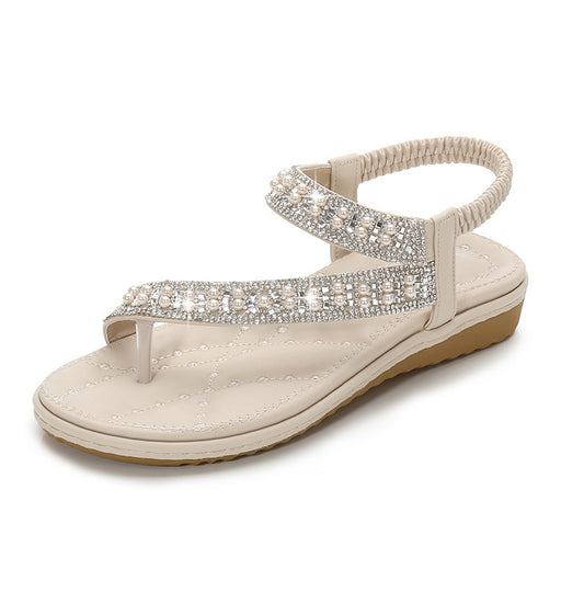 Pearl Diamond Anti-slip Flat Sandals