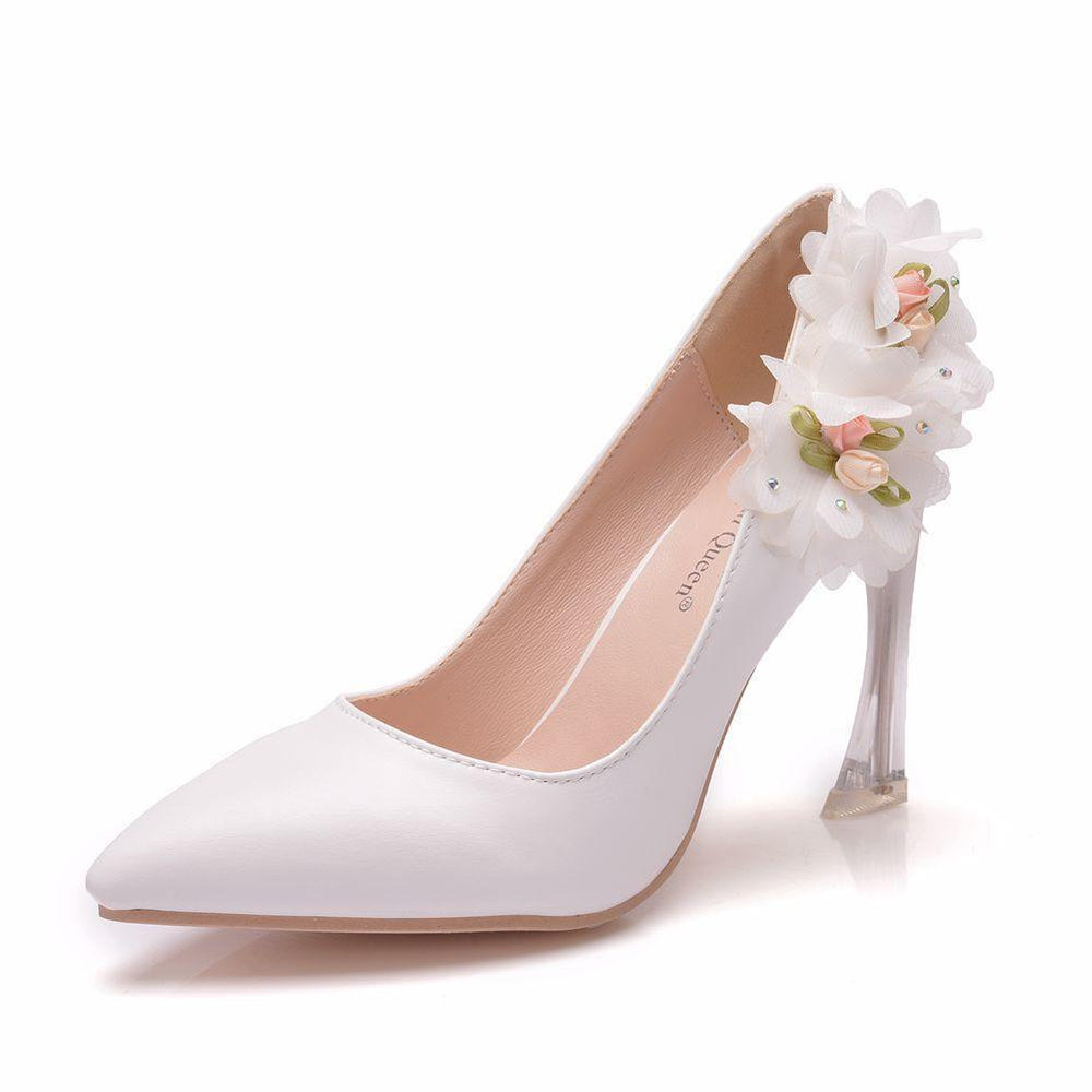 Bridal Heels  - Flower crystal