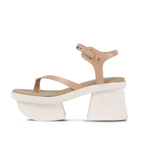 Summer thick heel waterproof platform high-heeled flip-flop sandals