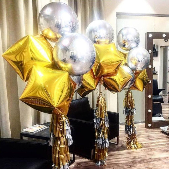 24 inch cube mirror magic ball birthday party wedding event balloon decoration photo 4D balloon