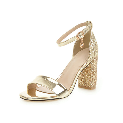 Glitter Bridesmaid Golden Pumps Sandals