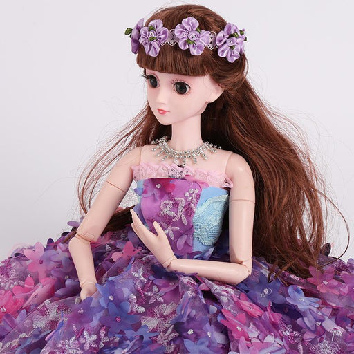 Fany Sweet Purple lace three-dimensional flowers children's toys talking barbie