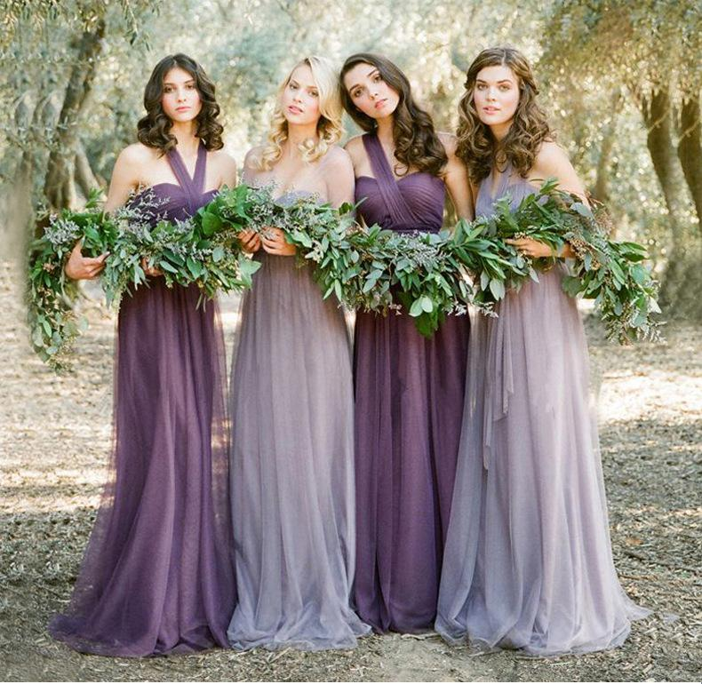 Long bridesmaid dress and slim slim evening dress