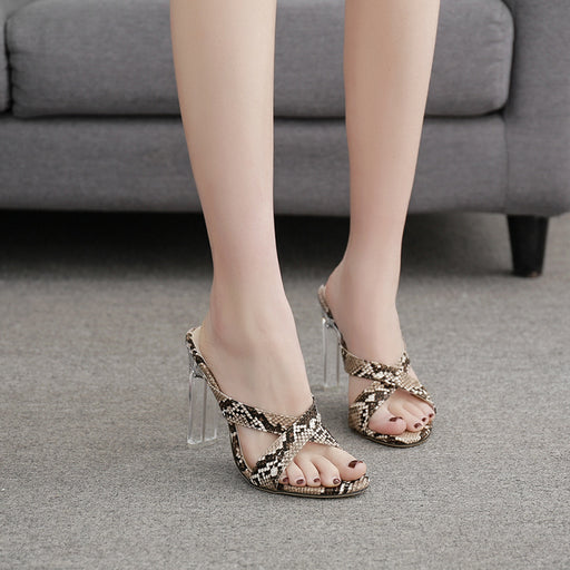 Party  Serpentine Crystal Heels  Slippers