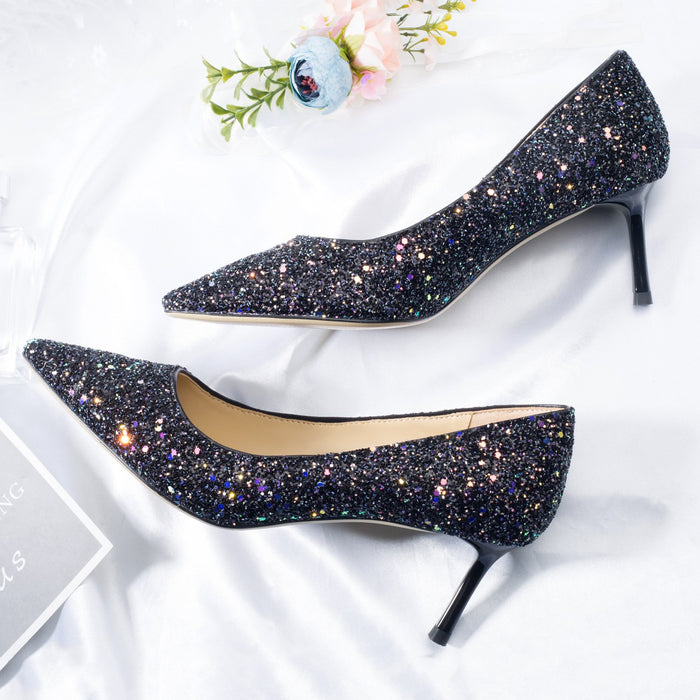 Wedding Heels  - Small fragrant color sequins