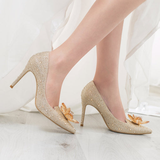 Wedding Heels - Crystal Silver Princess