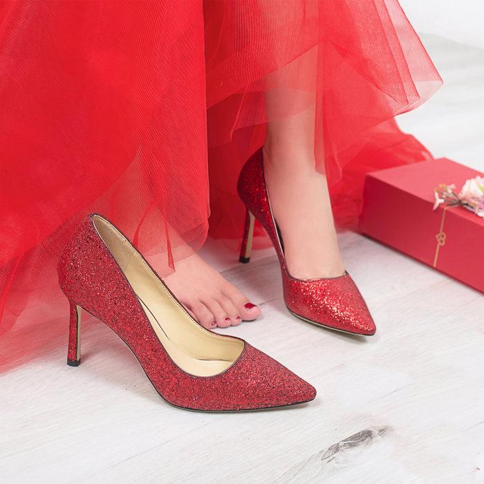 Wedding Heels  -Red