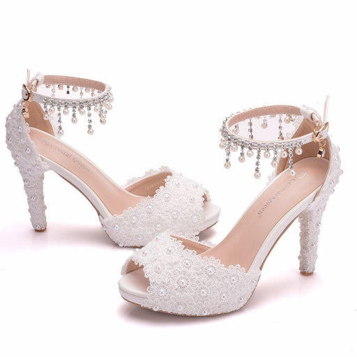 Bridal Sandals -Lace Beads
