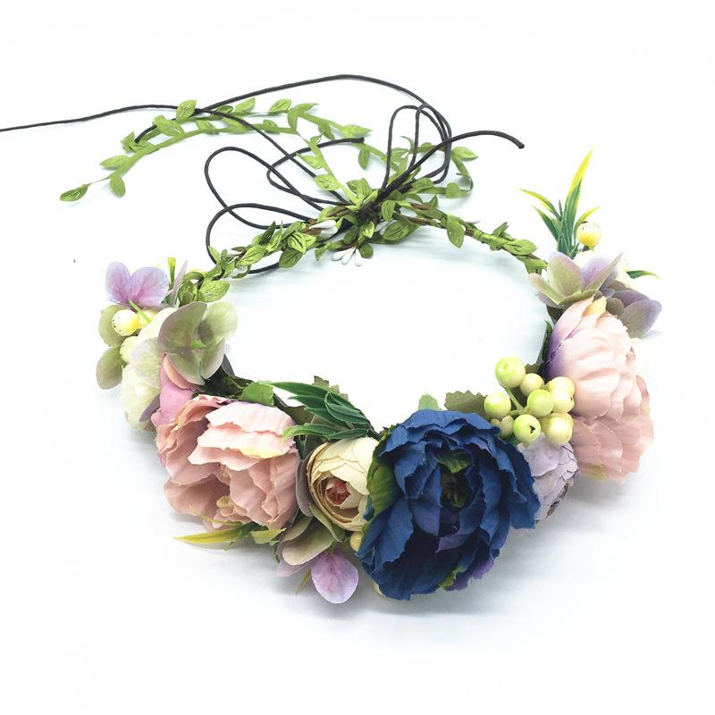 Colorful flower crown. Frida crown. Tropical flower headband. Baby flower headband. Floral crown. Frida flower crown. Wedding flower crown.