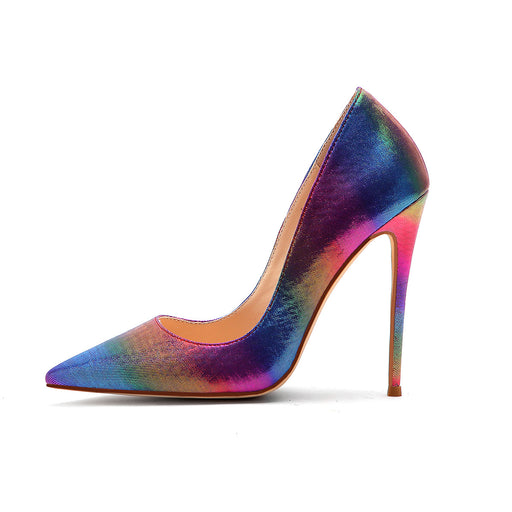 Evening Party  Colorful  silk High Heels