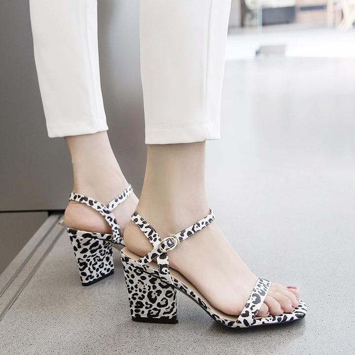 Summer Leopard  Pump Sandals