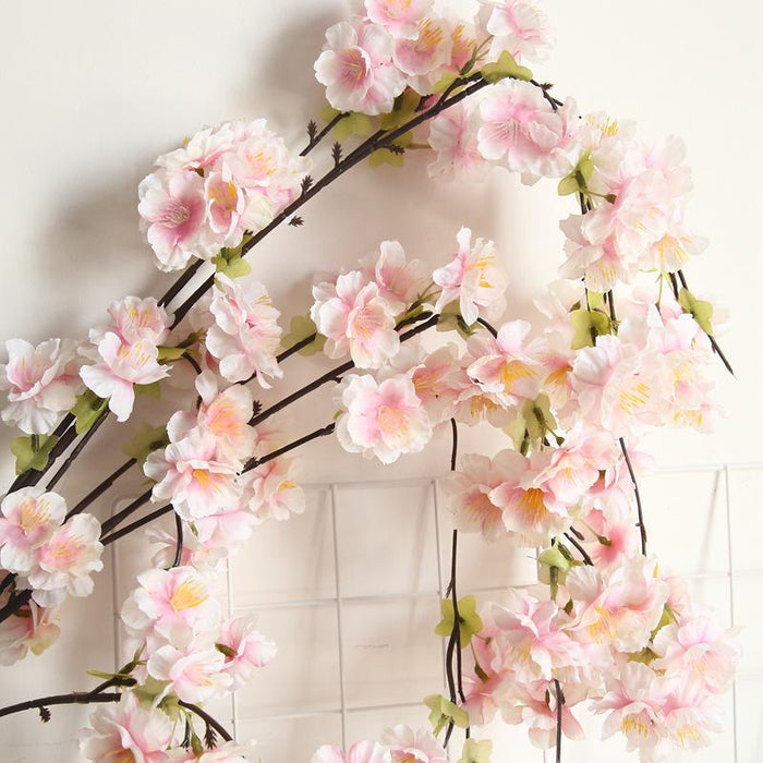 Comfyee Pink Fake Artificial Cherry Blossom Silk Flower
