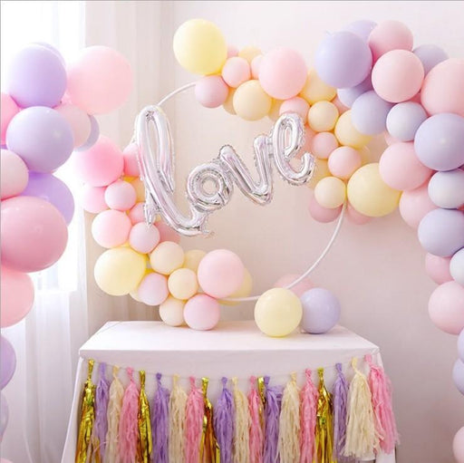 Macaron 5 inch candy color round latex balloon party wedding room decoration creative wedding arrangement 30 pcs / pack