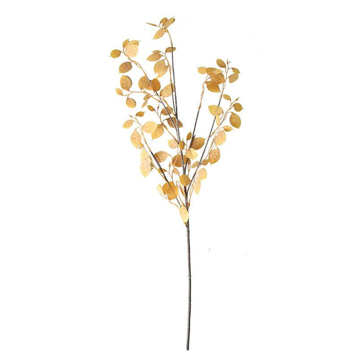 Comfyee Fall Yellow Leaves Fake Artificial Greenery Eucalyptus Vine