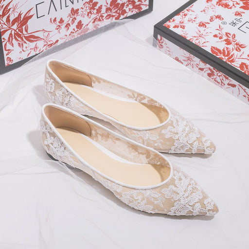 Wedding Flats - Gauze Hollowing out