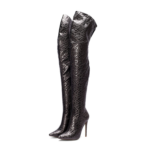 Serpentine Over the knee Evening Thigh High Boots