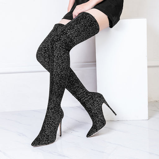 Party Knee-high Glitter Thigh High Heels Boots