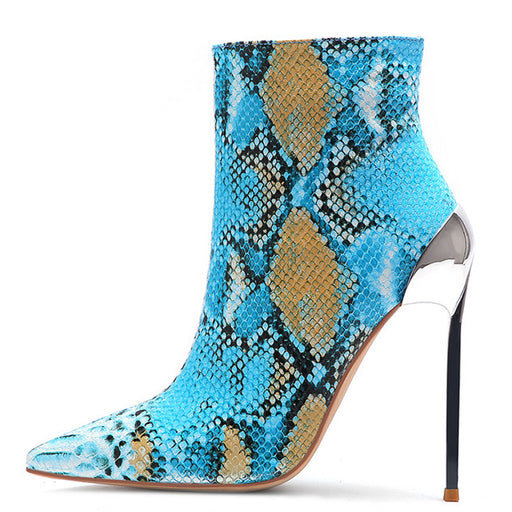 Serpentine Ankle Boots High Heels
