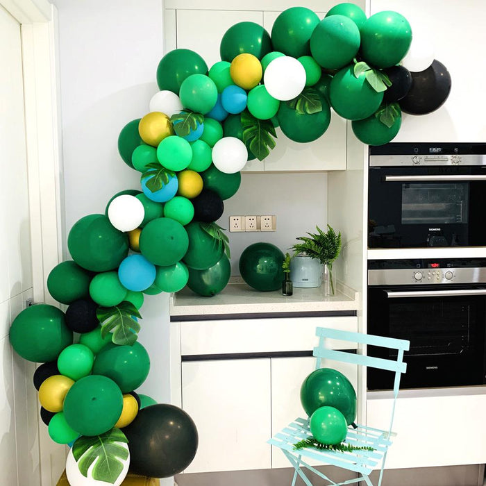 ins Hawaiian style latex balloon chain set birthday party party wedding decoration green theme layout balloons