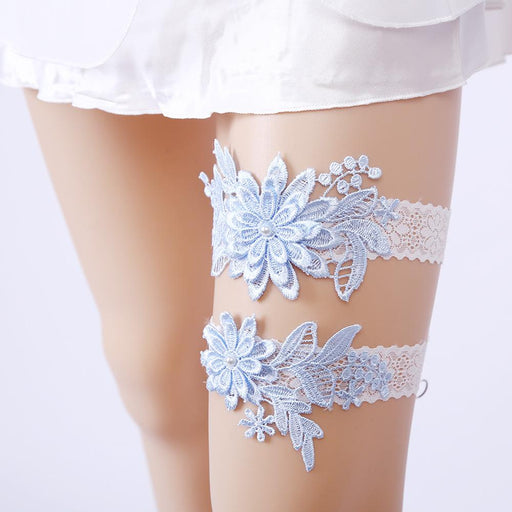 Light Blue Bridal Garter, Something Blue Garter, Wedding Garter, Bride Garter, Lace Garter, Rhinestone Beaded Lace Garter,Garter For Wedding