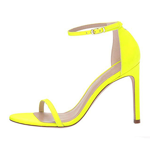 Open toe Stiletto Buckle yellow  Night Club  High Sandals