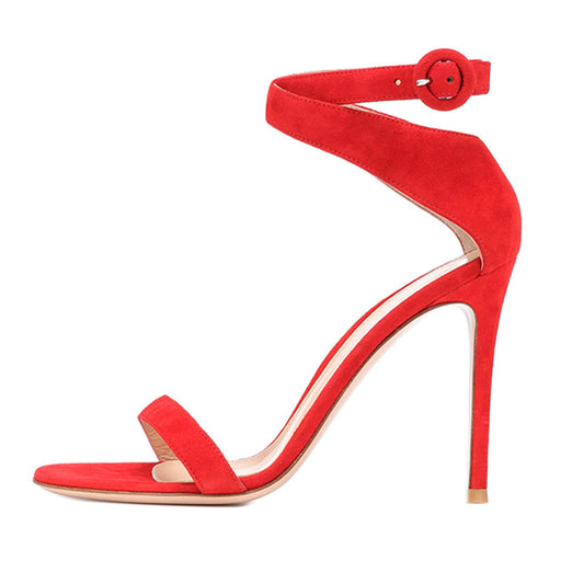 Summer Open toe stiletto Red  Bridal  Party Heels sandals