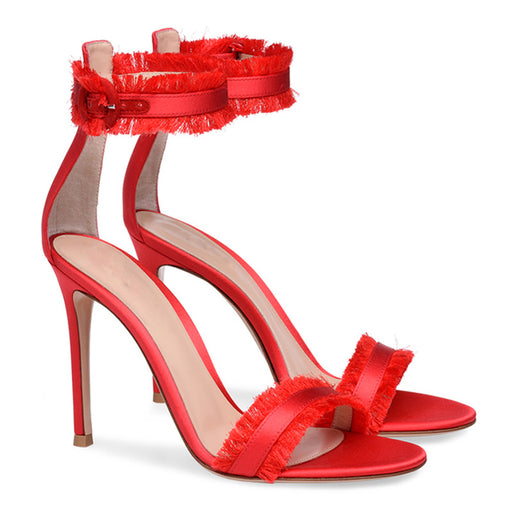 Ladies Banquet  Open Toe  Silk Sandals