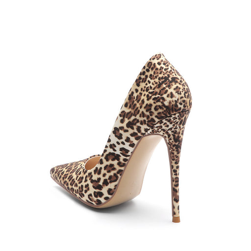 Night Club Sequins Leopard High Heels