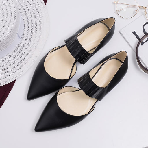 Wedding  Flats -Black Cowhide