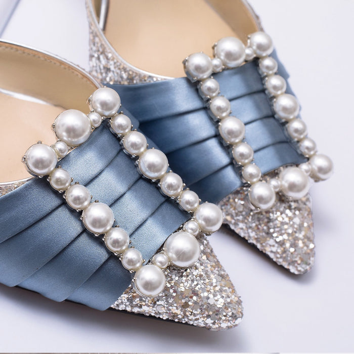 Wedding Sandals  -Fairy square button Sequin