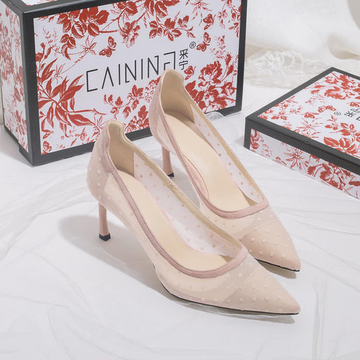 Wedding Flats -Pink lace Gauze