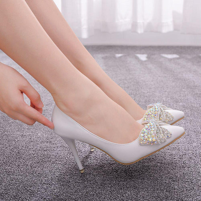 Bridal Heels -Colour Rhinestone Butterfly