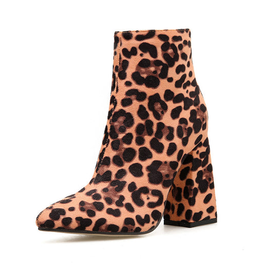 Leopard  Pumps Ankle Boots