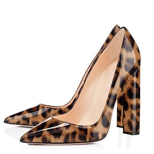 Evening Sparkle Leopard Pumps High Heels