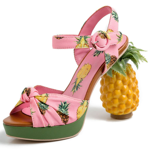 Party  pineapple Thick bottom High Heels Sandals