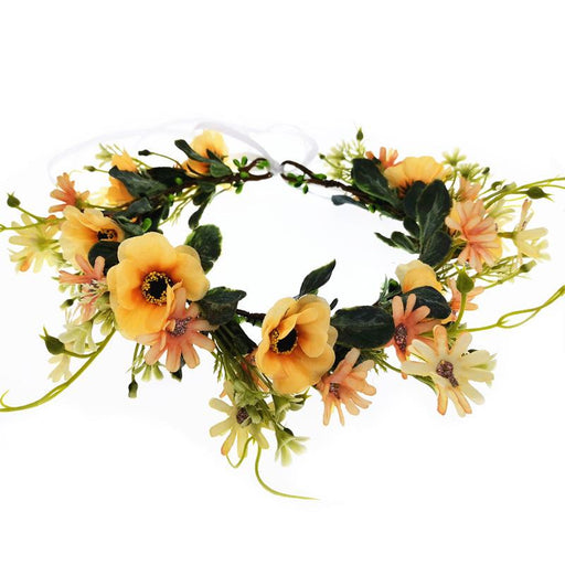 Sunflower flower crown, Wedding flower crown. Sunflower girl crown. Baby Sunflower crown. Sunflower headband baby. Bridal flower Crown.