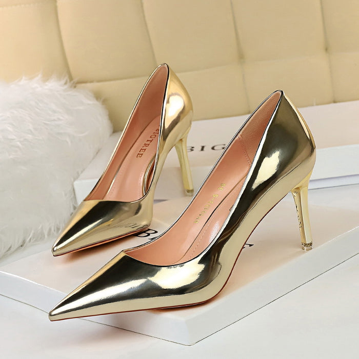 Pointed high heel women's shoes single shoes
