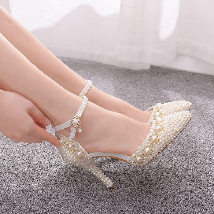 Wedding  Heels - Beads Rhinestone